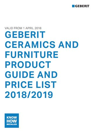 Geberit - Ceramics and Furniture Price Guide 2018-2019
